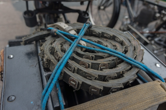 Leather transmission chain