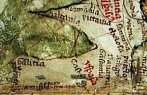 1320_Pietro_Vesconte_(Liber_Secretorum_de_Marino_Sanuto)_Norte_Peninsula_Iberica