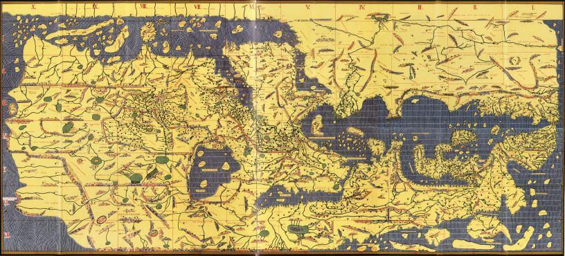 TabulaRogeriana.Al Idirisi.Al Andalus para el rey normando de sicilia